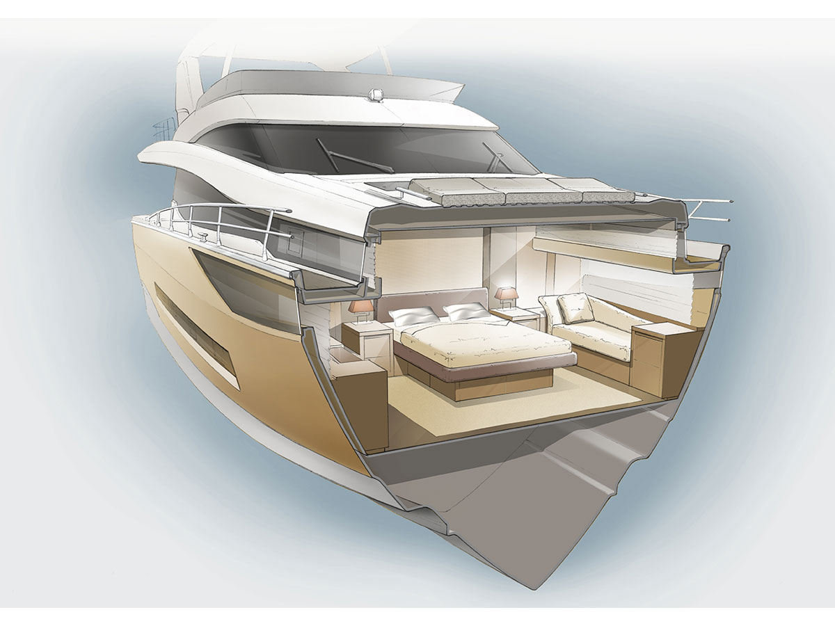 BoatTest com look at the soon to be released Prestige 720