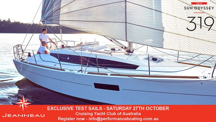 Exclusive test sails of the new Sun Odyssey 319