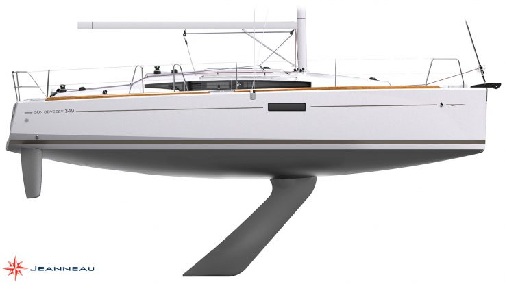 Sun Odyssey 349 lift keel model at Sanctuary Cove Boat Show
