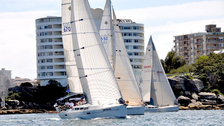 Jeanneau owners celebrate on Sydney Harbour