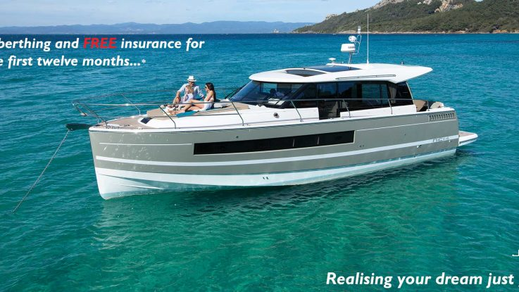 FREE berthing and insurance on your new Jeanneau!